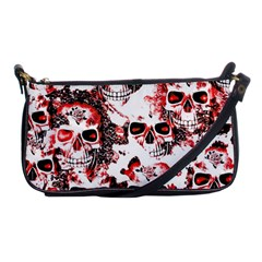 Cloudy Skulls White Red Shoulder Clutch Bags