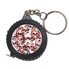 Cloudy Skulls White Red Measuring Tapes