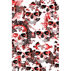 Cloudy Skulls White Red 5.5  x 8.5  Notebooks