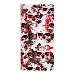 Cloudy Skulls White Red Shower Curtain 36  x 72  (Stall)