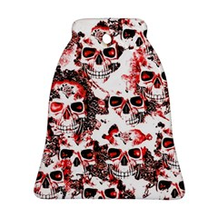 Cloudy Skulls White Red Ornament (Bell)