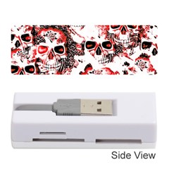 Cloudy Skulls White Red Memory Card Reader (Stick)