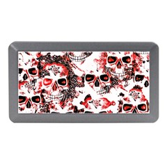 Cloudy Skulls White Red Memory Card Reader (Mini)