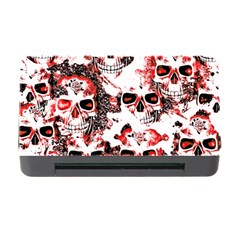 Cloudy Skulls White Red Memory Card Reader with CF
