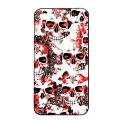 Cloudy Skulls White Red Apple iPhone 4/4s Seamless Case (Black)