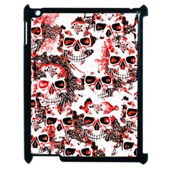 Cloudy Skulls White Red Apple iPad 2 Case (Black)