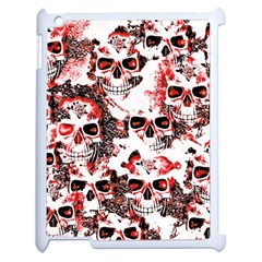 Cloudy Skulls White Red Apple iPad 2 Case (White)