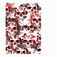 Cloudy Skulls White Red Small Garden Flag (Two Sides)