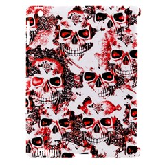 Cloudy Skulls White Red Apple iPad 3/4 Hardshell Case (Compatible with Smart Cover)