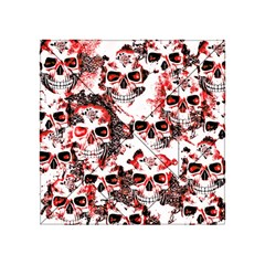Cloudy Skulls White Red Acrylic Tangram Puzzle (4  x 4 )