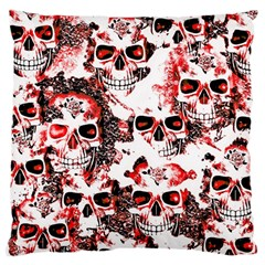 Cloudy Skulls White Red Large Cushion Case (One Side)