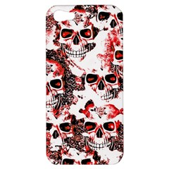 Cloudy Skulls White Red Apple iPhone 5 Hardshell Case