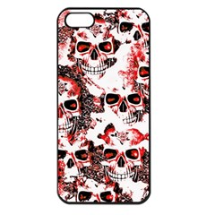 Cloudy Skulls White Red Apple iPhone 5 Seamless Case (Black)