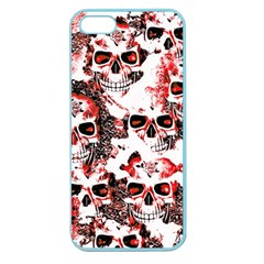 Cloudy Skulls White Red Apple Seamless iPhone 5 Case (Color)