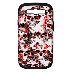 Cloudy Skulls White Red Samsung Galaxy S III Hardshell Case (PC+Silicone)
