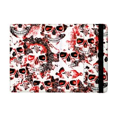 Cloudy Skulls White Red Apple iPad Mini Flip Case