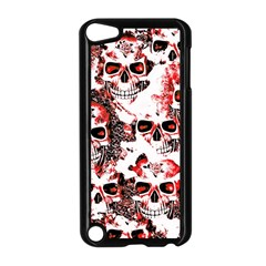 Cloudy Skulls White Red Apple iPod Touch 5 Case (Black)