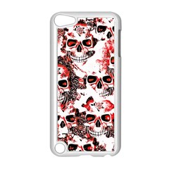 Cloudy Skulls White Red Apple iPod Touch 5 Case (White)