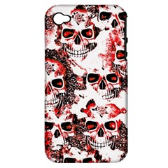 Cloudy Skulls White Red Apple iPhone 4/4S Hardshell Case (PC+Silicone)