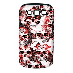 Cloudy Skulls White Red Samsung Galaxy S III Classic Hardshell Case (PC+Silicone)