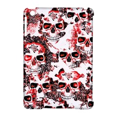 Cloudy Skulls White Red Apple iPad Mini Hardshell Case (Compatible with Smart Cover)
