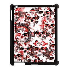 Cloudy Skulls White Red Apple Ipad 3/4 Case (black)