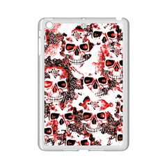 Cloudy Skulls White Red iPad Mini 2 Enamel Coated Cases