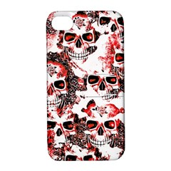 Cloudy Skulls White Red Apple iPhone 4/4S Hardshell Case with Stand