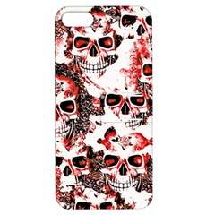 Cloudy Skulls White Red Apple iPhone 5 Hardshell Case with Stand