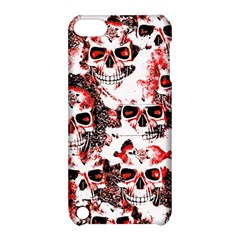 Cloudy Skulls White Red Apple iPod Touch 5 Hardshell Case with Stand
