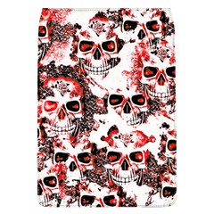 Cloudy Skulls White Red Flap Covers (L)