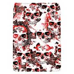 Cloudy Skulls White Red Flap Covers (S)