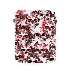 Cloudy Skulls White Red Apple iPad 2/3/4 Protective Soft Cases