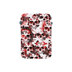 Cloudy Skulls White Red Apple iPad Mini Protective Soft Cases