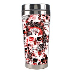Cloudy Skulls White Red Stainless Steel Travel Tumblers