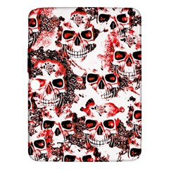Cloudy Skulls White Red Samsung Galaxy Tab 3 (10.1 ) P5200 Hardshell Case