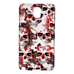 Cloudy Skulls White Red Samsung Galaxy Note 3 N9005 Hardshell Case