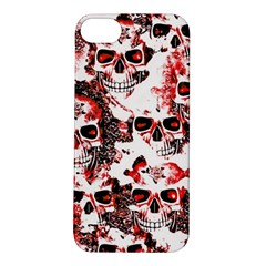 Cloudy Skulls White Red Apple iPhone 5S/ SE Hardshell Case