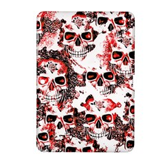 Cloudy Skulls White Red Samsung Galaxy Tab 2 (10.1 ) P5100 Hardshell Case