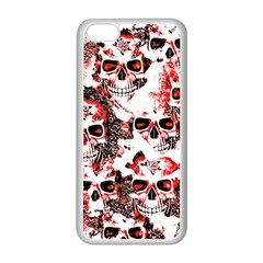 Cloudy Skulls White Red Apple iPhone 5C Seamless Case (White)