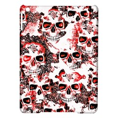 Cloudy Skulls White Red iPad Air Hardshell Cases