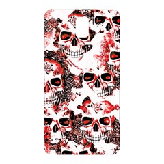 Cloudy Skulls White Red Samsung Galaxy Note 3 N9005 Hardshell Back Case