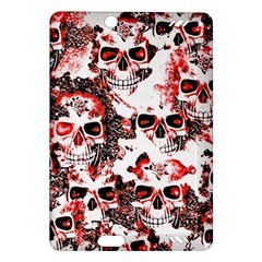 Cloudy Skulls White Red Amazon Kindle Fire HD (2013) Hardshell Case