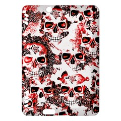 Cloudy Skulls White Red Kindle Fire HDX Hardshell Case