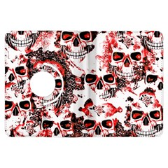 Cloudy Skulls White Red Kindle Fire HDX Flip 360 Case