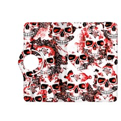 Cloudy Skulls White Red Kindle Fire HDX 8.9  Flip 360 Case