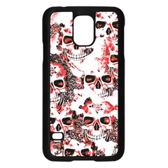 Cloudy Skulls White Red Samsung Galaxy S5 Case (Black)