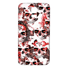 Cloudy Skulls White Red Samsung Galaxy S5 Back Case (White)