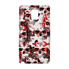 Cloudy Skulls White Red Samsung Galaxy Note 4 Hardshell Case