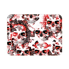 Cloudy Skulls White Red Double Sided Flano Blanket (Mini)